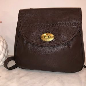 Fossil dark brown pebbled leather crossbody NWOT😎